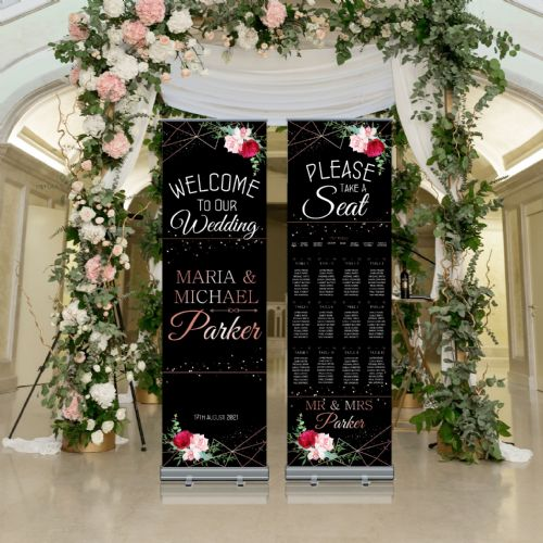 Wedding Roller Banner N9 - Welcome to our Wedding / Table Seating Plan